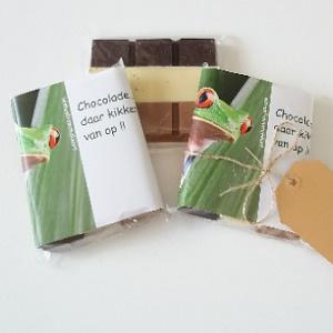 Chocolade , daar kikker je van op!!