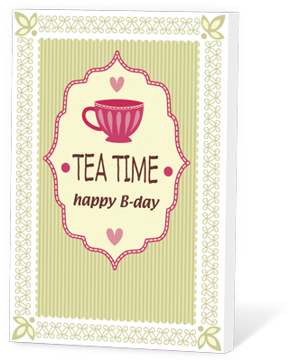 Tea time, happy b-day