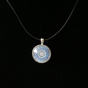Mandala (lederen) ketting, Flower