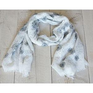 Sjaal, wit met