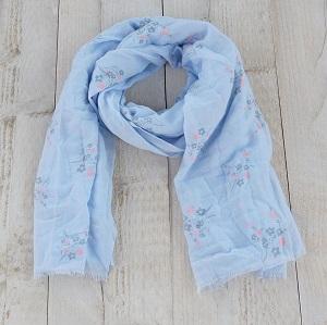 Sjaal, blauw