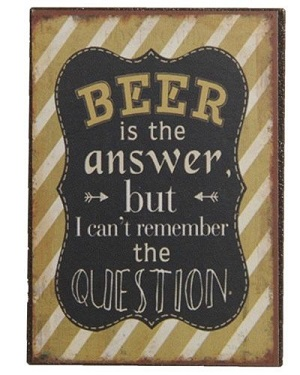 Magneet, beer is the answer