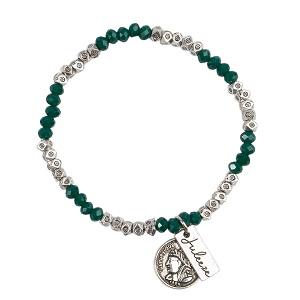 Armband groen en zilverkleurig