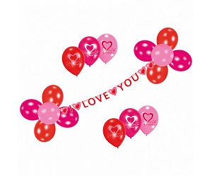 Ballonnen pakket love you