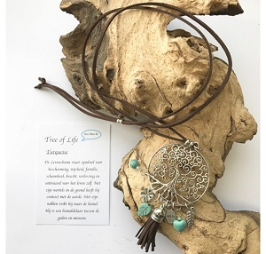 Tree of Life, Levensboom veter ketting (bruin)