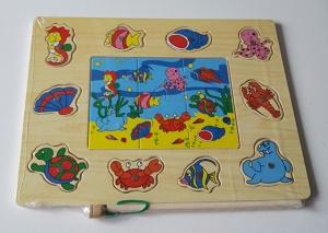 Puzzel/Magneetspel, dieren uit de zee