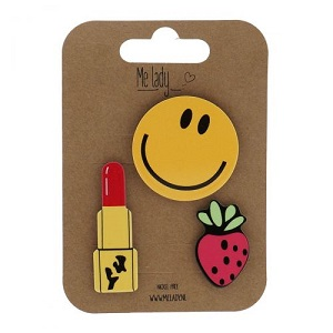 Applicatie pin set, Smiley
