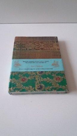 Boekje met sari kaft (groen/goud)