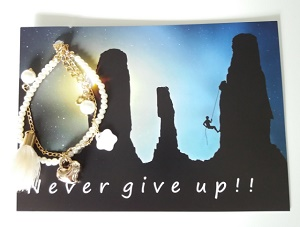 Kaart, Never give up!!