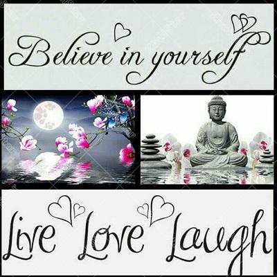 Diamond Painting (volledig)  Live, Love, Laugh