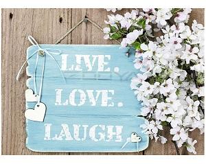 Diamond Painting (volledig) live love laugh