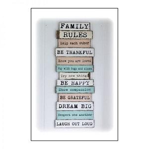 Een zakje vol family rules
