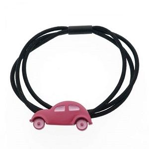 Haarelastiek, roze auto