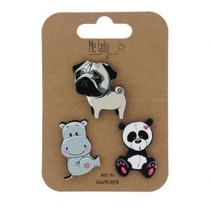 Applicatie pin set, Panda