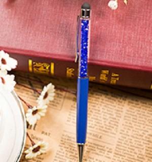 Stylus en pen, blauw