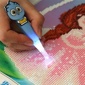 Diamond Painting pen met lamp
