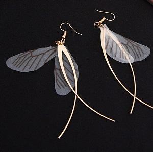 Oorbellen, vlindervleugels