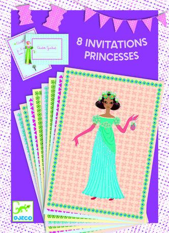 Djeco  Uitnodigingen prinsessen