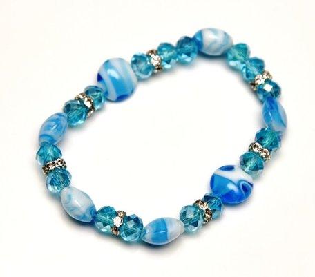 Blauwe armband