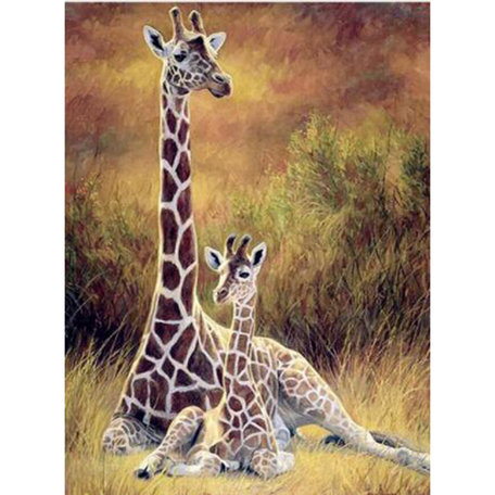 Diamond Painting (volledig) giraffe