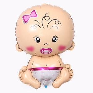 Opblaasbare ballon, baby (meisje)