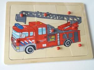 Puzzel brandweerwagen