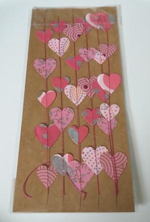Hartjes slinger, roze