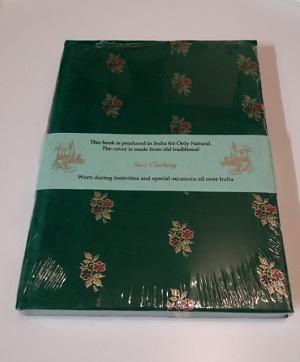Boekje met sari kaft (groen)