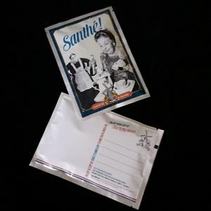 Postkaart met losse thee (Santhé!)