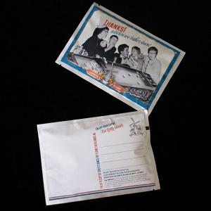 Postkaart met losse thee (Thanks! Moeten we vaker doen!)