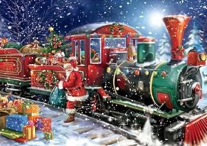 Diamond Painting (volledig) kerst trein