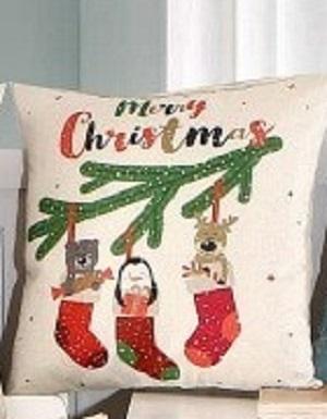 Kussenhoes kersttafereeltje