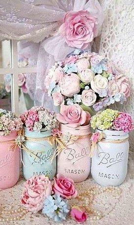 Diamond Painting (volledig) Potjes met bloemen