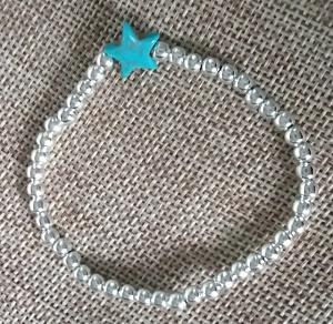 Metalen kralen armband met ster