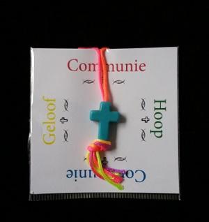 Attentie kaartje, Communie