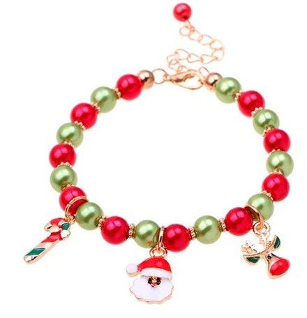 Armband met kerstbedels