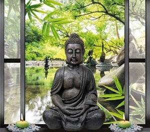 Diamond Painting Boeddha voor vijver