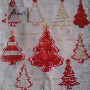 Servetten, rode kerstboom