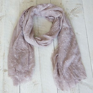 Sjaal bruin met zilveren sterretjes