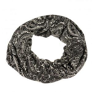 Sjaal/col, zwart/wit