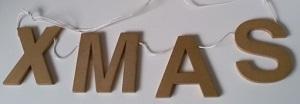 Letters van hout, XMAS