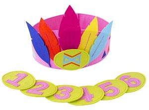 Kroon met verwisselbare cijfers