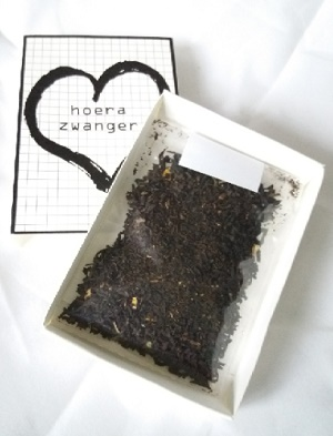 Hoera zwanger, thee in een doosje