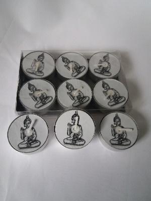 Waxinelichtjes, Boeddha