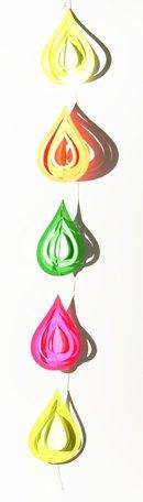Slinger met druppels - neon