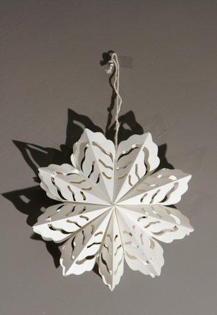 Kerstbloem - wit papier