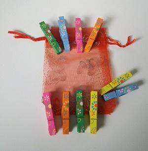 Gekleurde knijpers