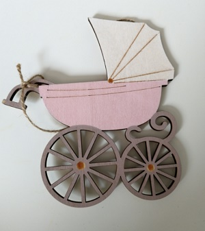 Kinderwagen, roze