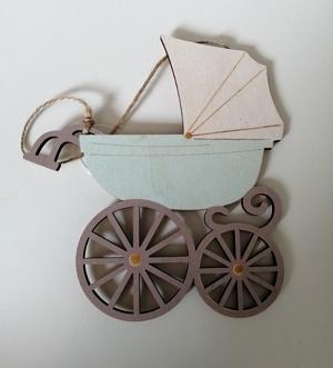 Kinderwagen, mintgroen