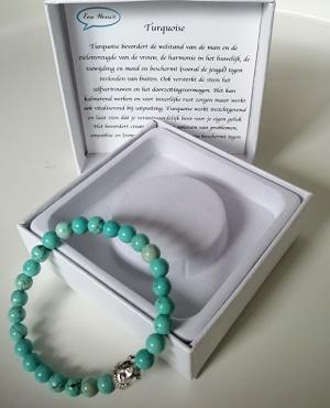 Boeddha armband (turquoise)